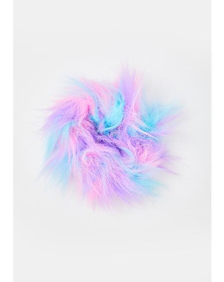 Furreal Fuzzy Scrunchie
