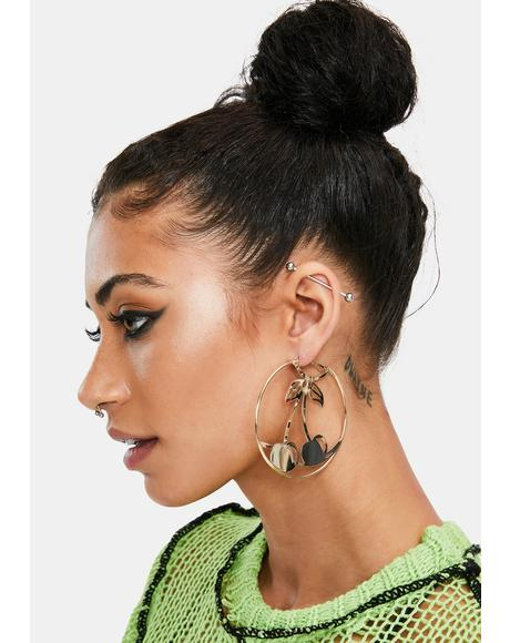 Diva Mood Hoop Earrings