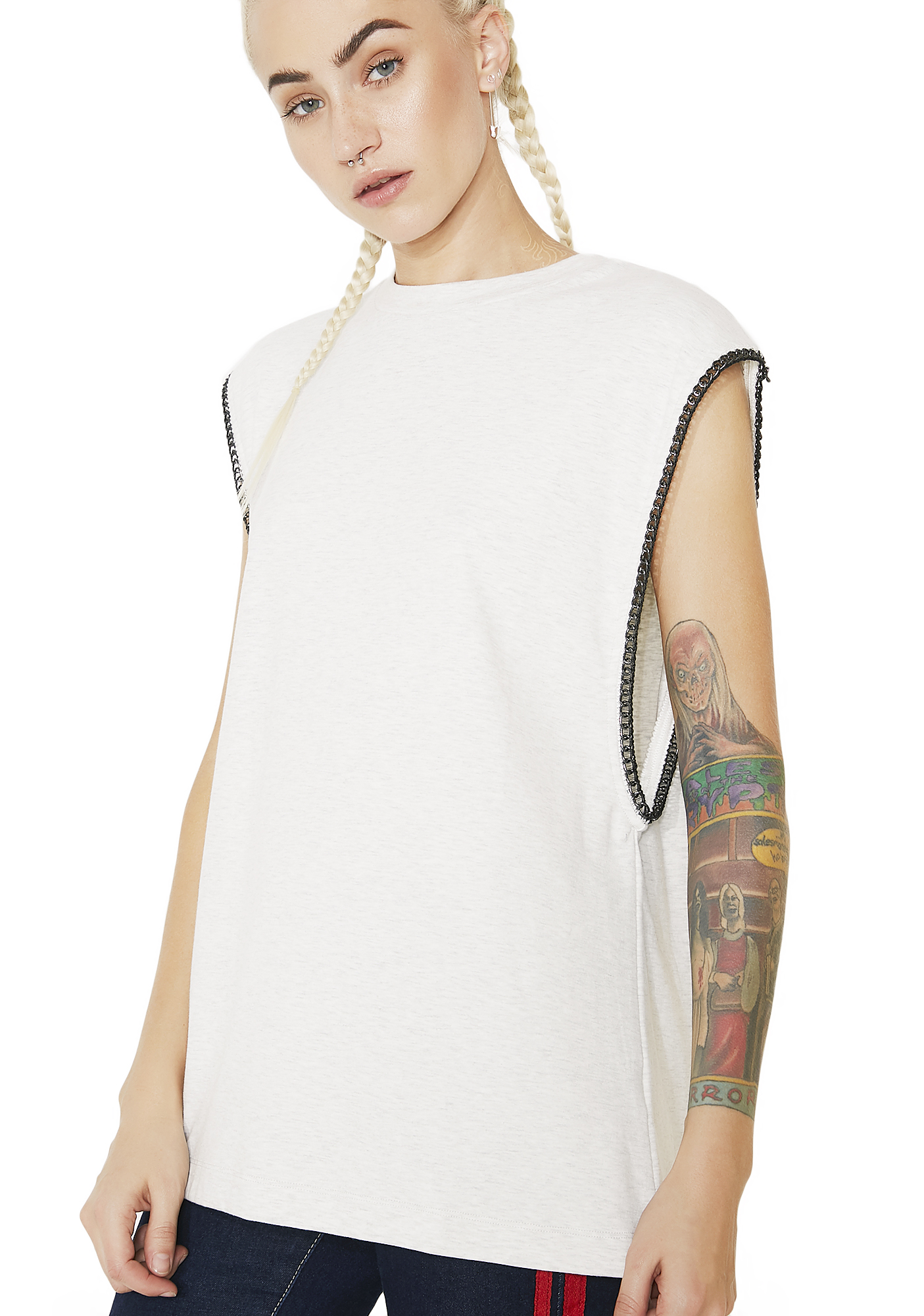 Chain Off White Muscle Tank