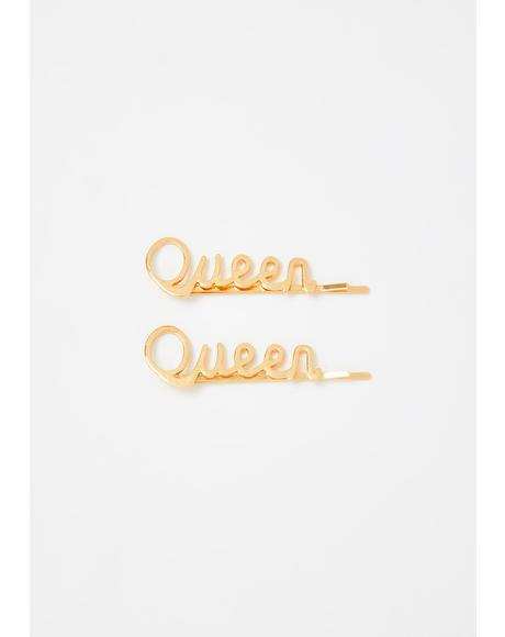 Call Me Queen Hair Pins