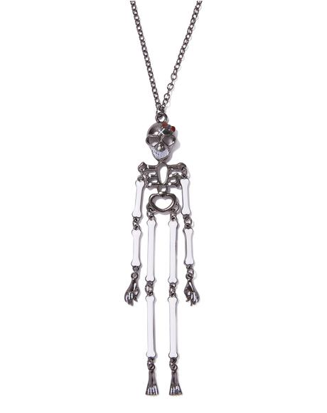 Bone Yard Skeleton Necklace