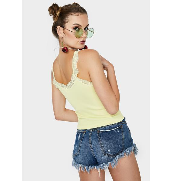 Mellow Say It Ain't So Lace Tank