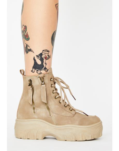Desert Cyber Militia Combat Boots
