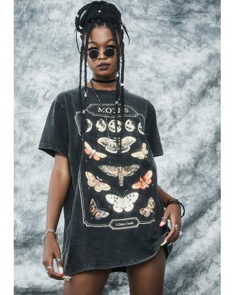 Flighty Behavior Oversized Graphic Tee