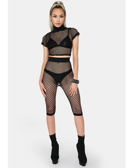 My Net Worth Fishnet Shorts