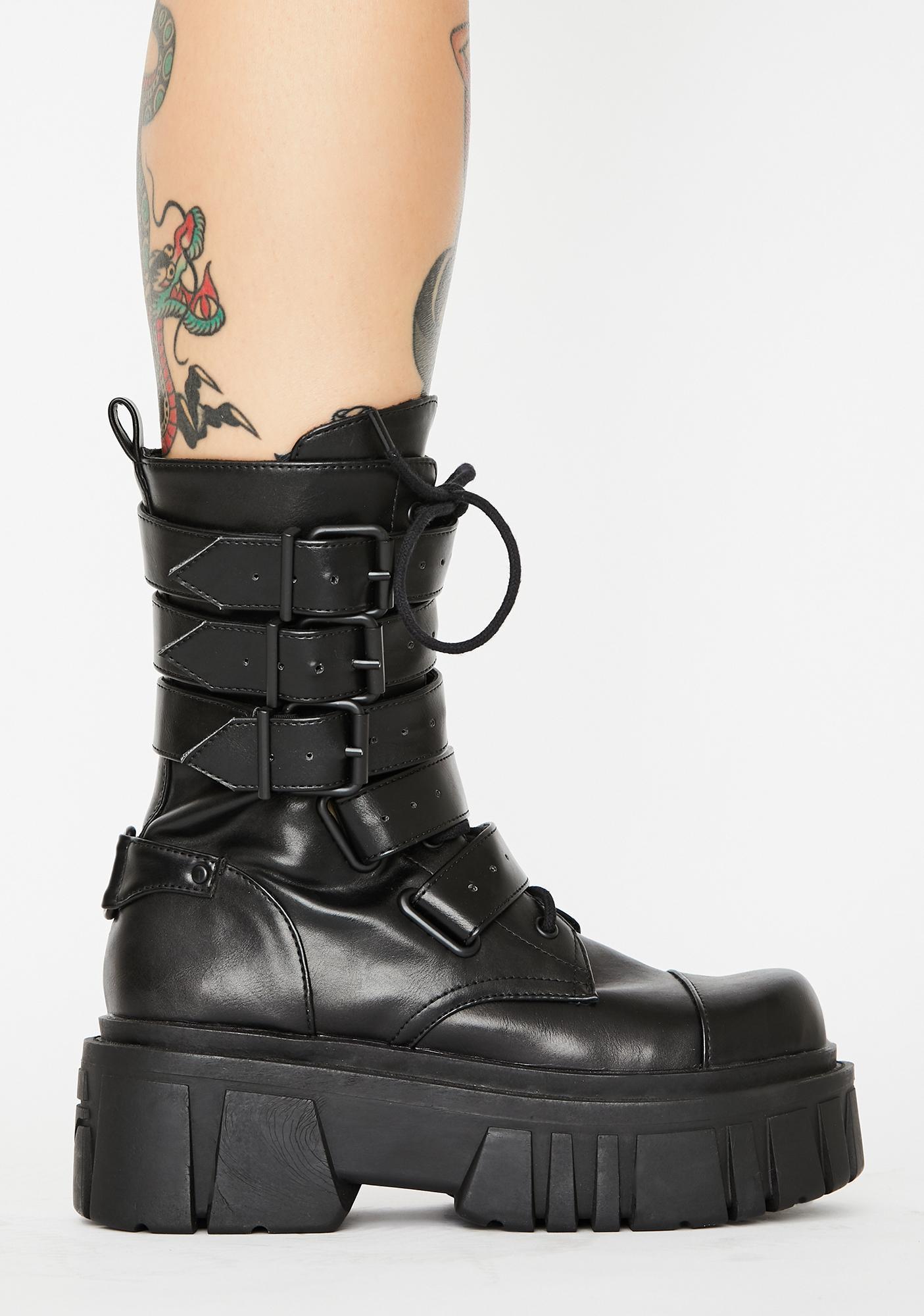 Current Mood Industrial Uproar Combat Boots