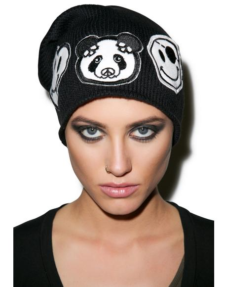 Dede Skull Panda Patch Combo Beanie