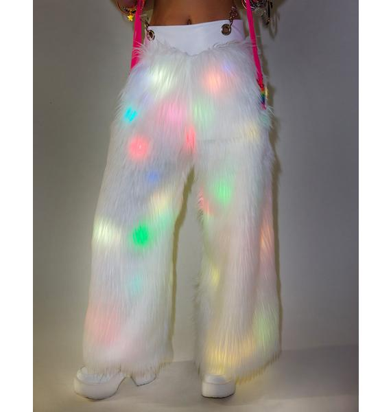 J Valentine Flashing Lights Suspender Pants