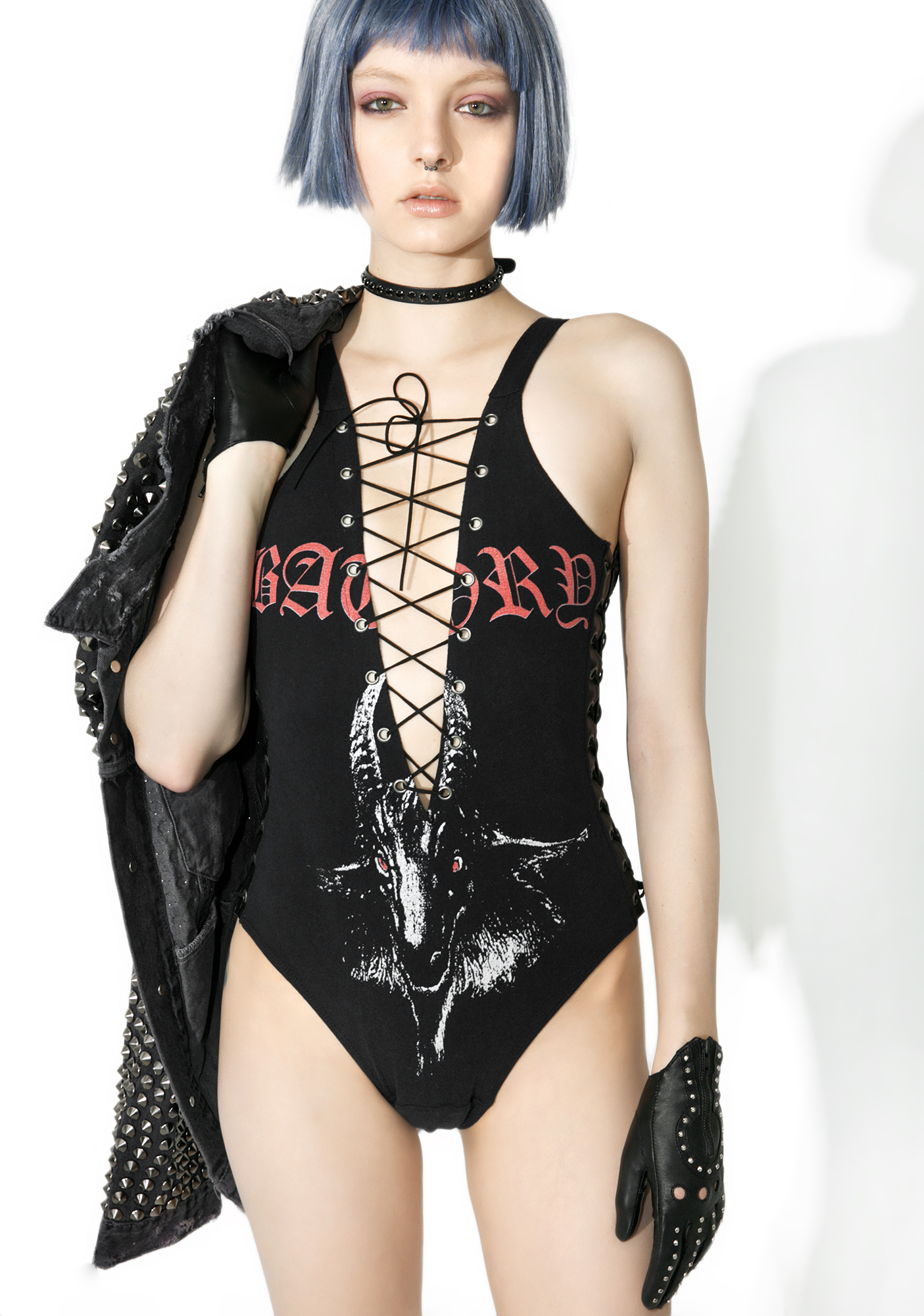 Hazmat Design Vintage Deadstock Metal I Am The Law Bodysuit