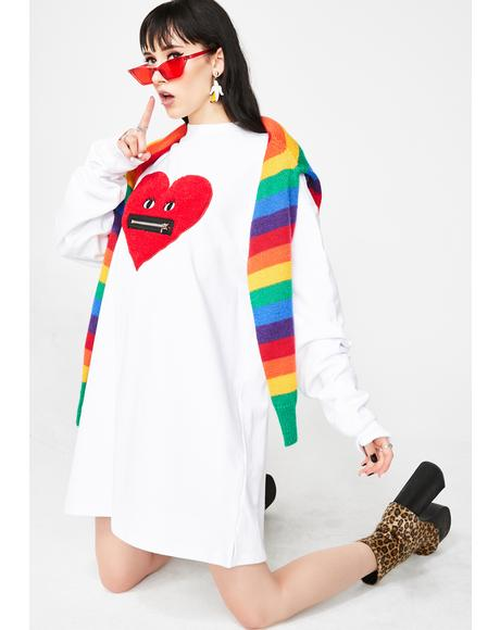 Zippy Heart Sweater Dress