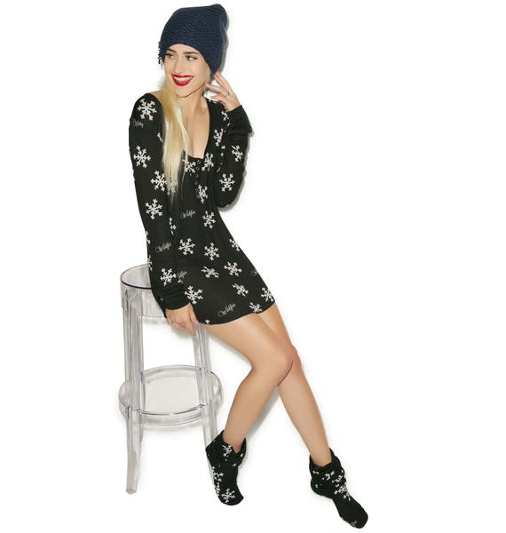 Wildfox Couture Snowflake Snowed In Pajama Sleepshirt