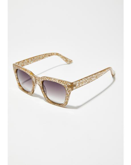 Sparkle And Shine Glitter Sunglasses