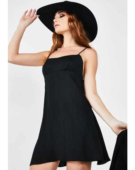 Black Smooth Sailin' Mini Slip Dress
