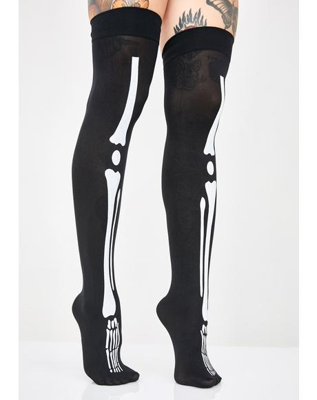 Bone Chilling Thigh Highs