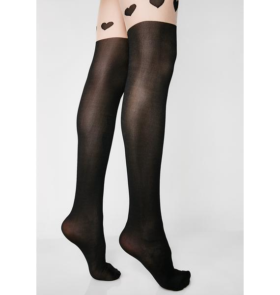 Easy Luv Heart Tights