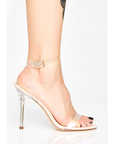 Champagne Magic Mercury Clear Heels