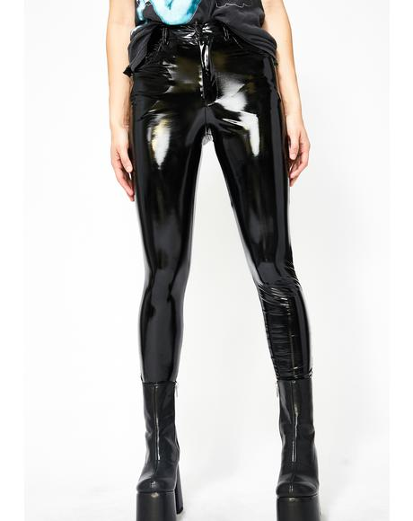 Dark Legally Flawless Vinyl Pants