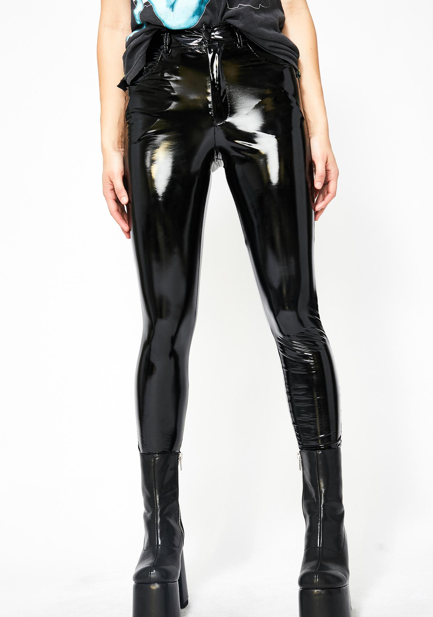 Dark Legally Flawless Vinyl Pants