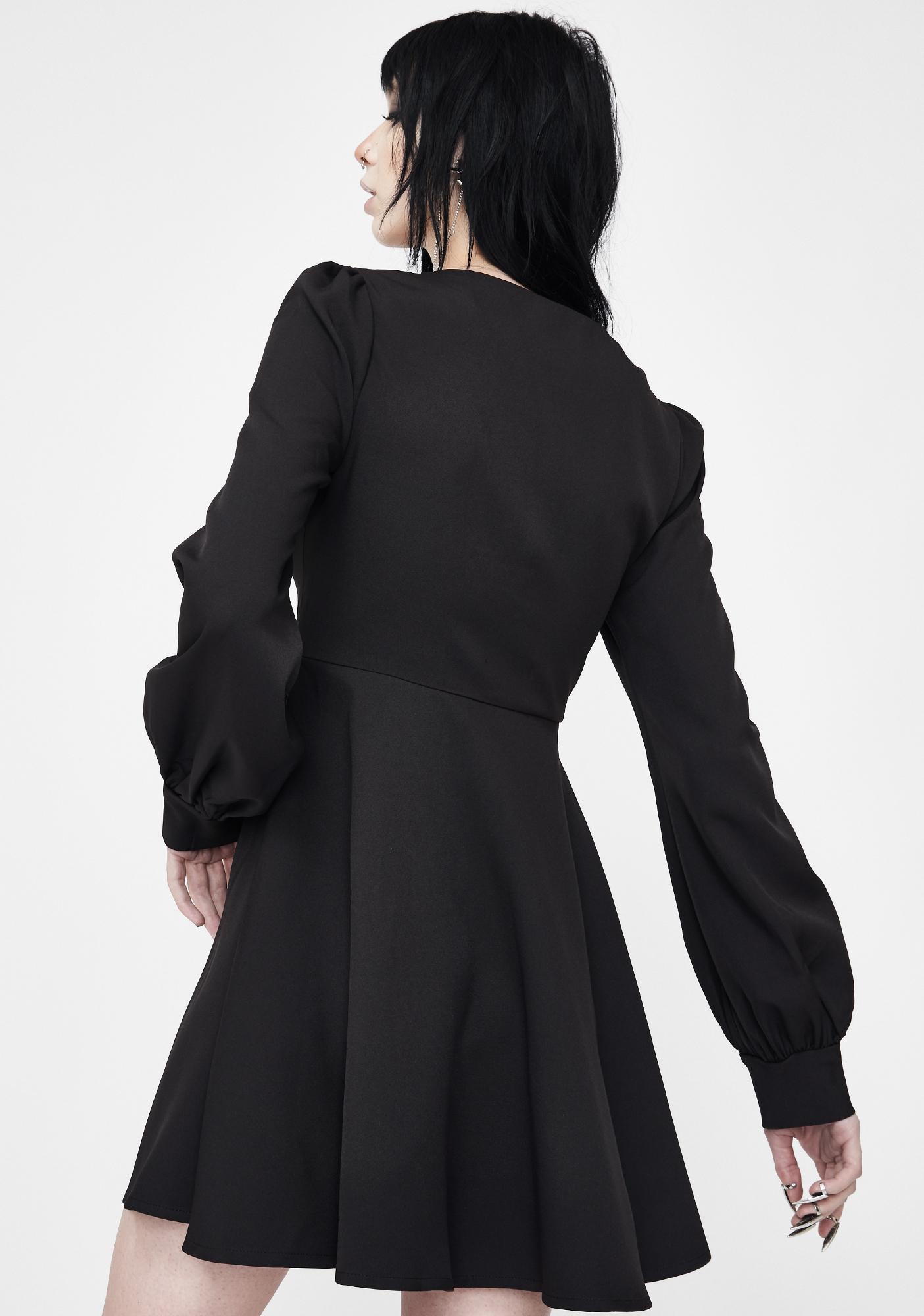 Punk Rave High Waist Lace Up Dress