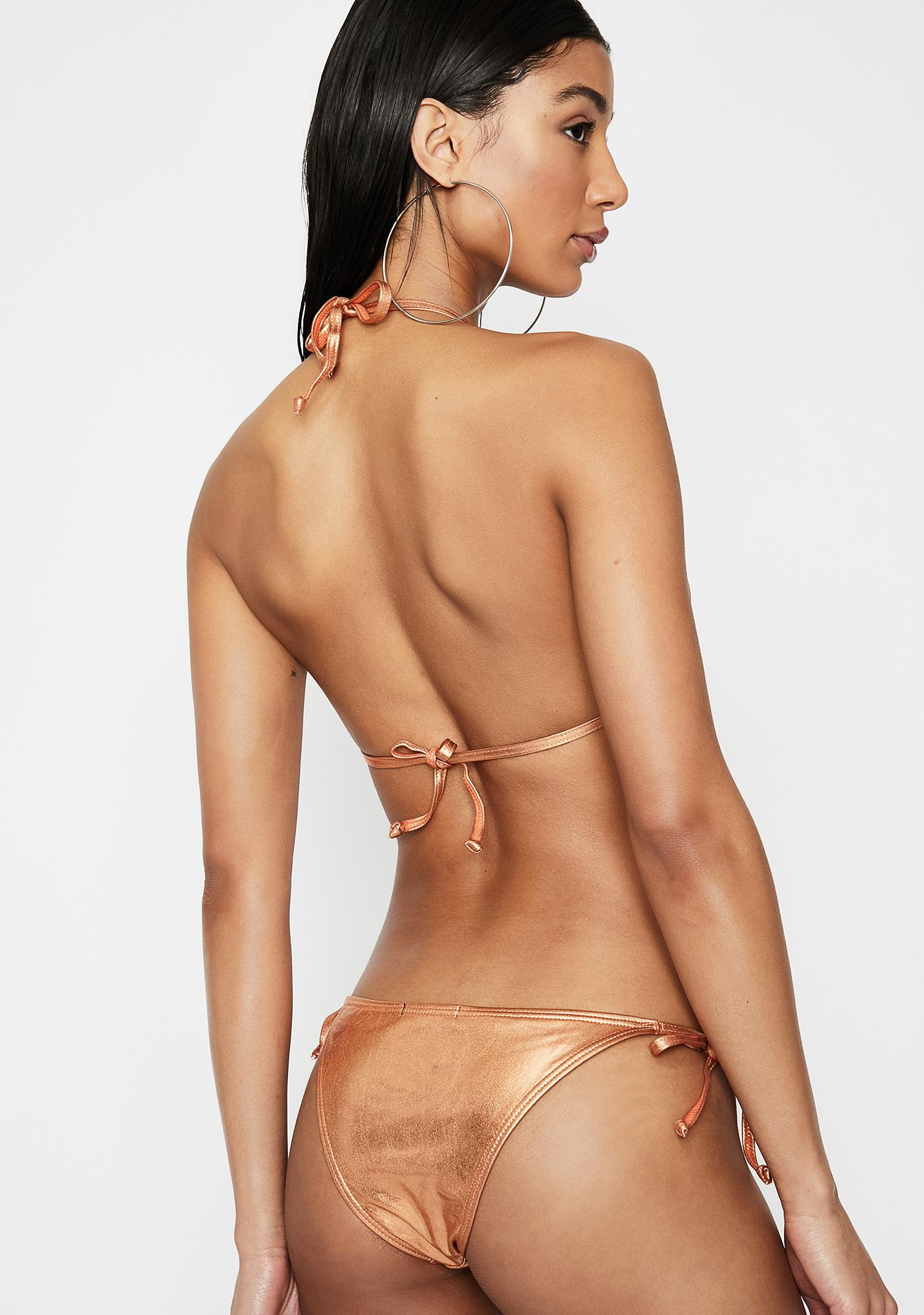 454d1bd5dc ... Poster Grl Money Up Metallic Bikini Set ...