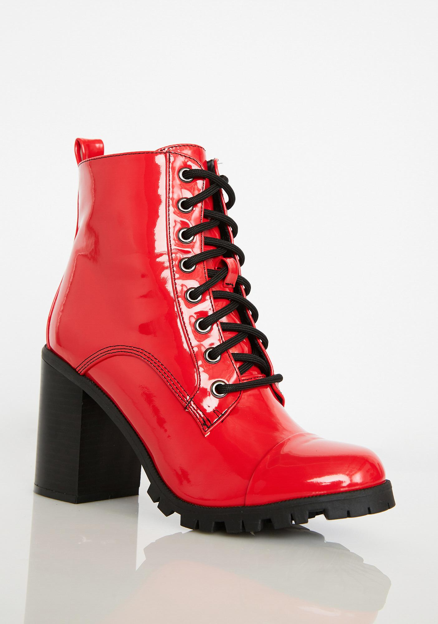 e4a686829299d Rave Runway Patent Booties; Rave Runway Patent Booties ...