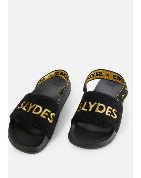 Coin Slide Sandals