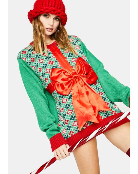 Wrapped Present Sweater