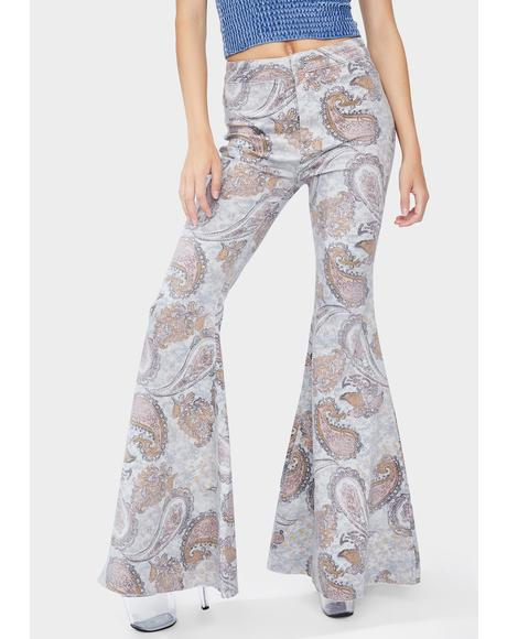 Paisley Just Float On Flare Jeans