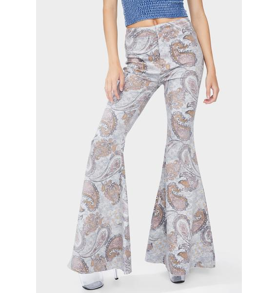 Free People Paisley Just Float On Flare Jeans