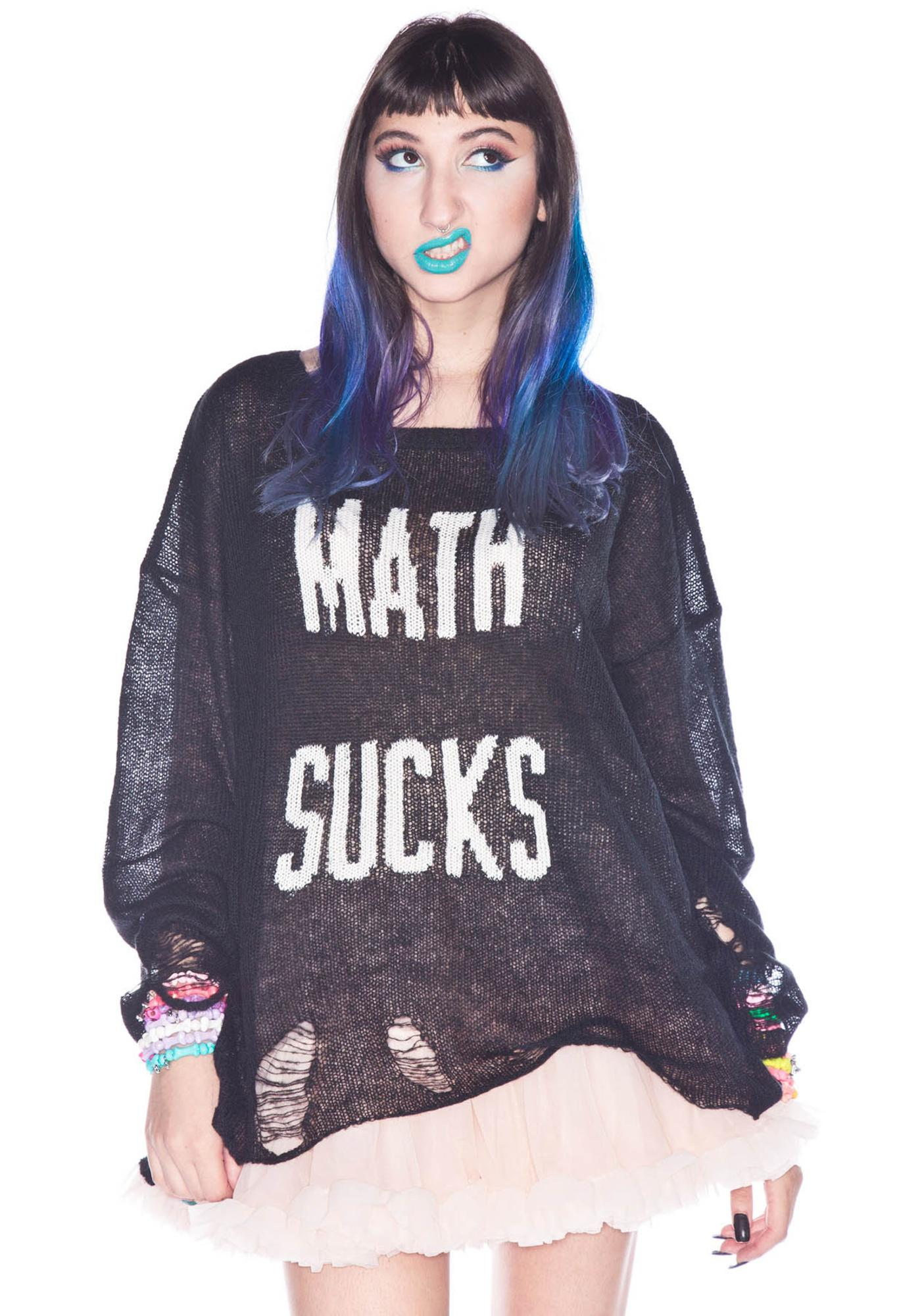 Wildfox Couture Math Sucks Lennon Sweater