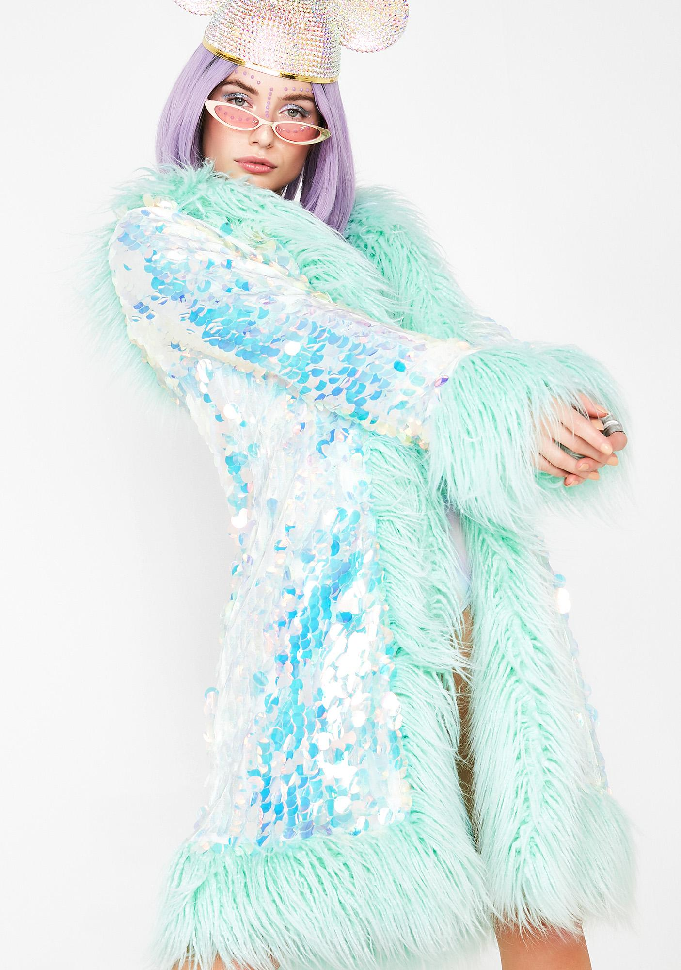 Club Exx Galactic Glamgasm Sequin Coat