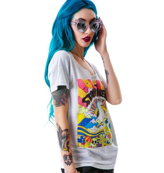Glamour Kills Stay Weird Scoop Neck Tee