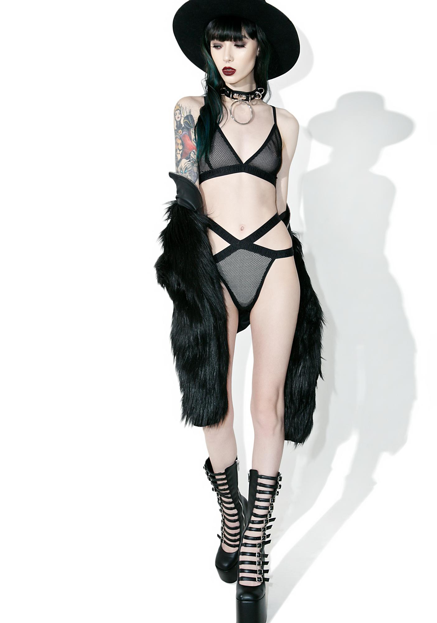 Killstar Demonica Fishnet Bralette