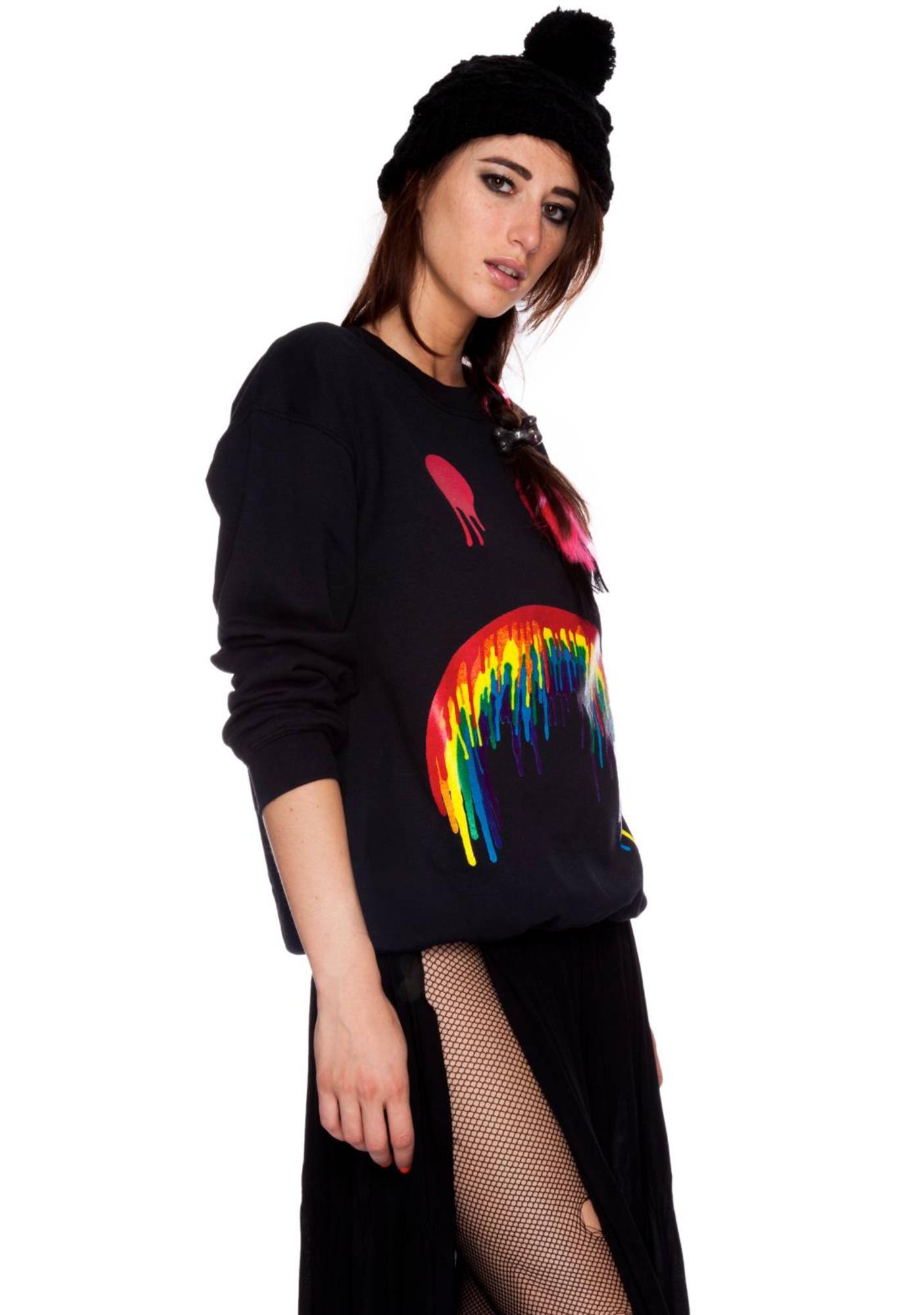 Dimepiece Sad Daze Crew Neck Sweatshirt