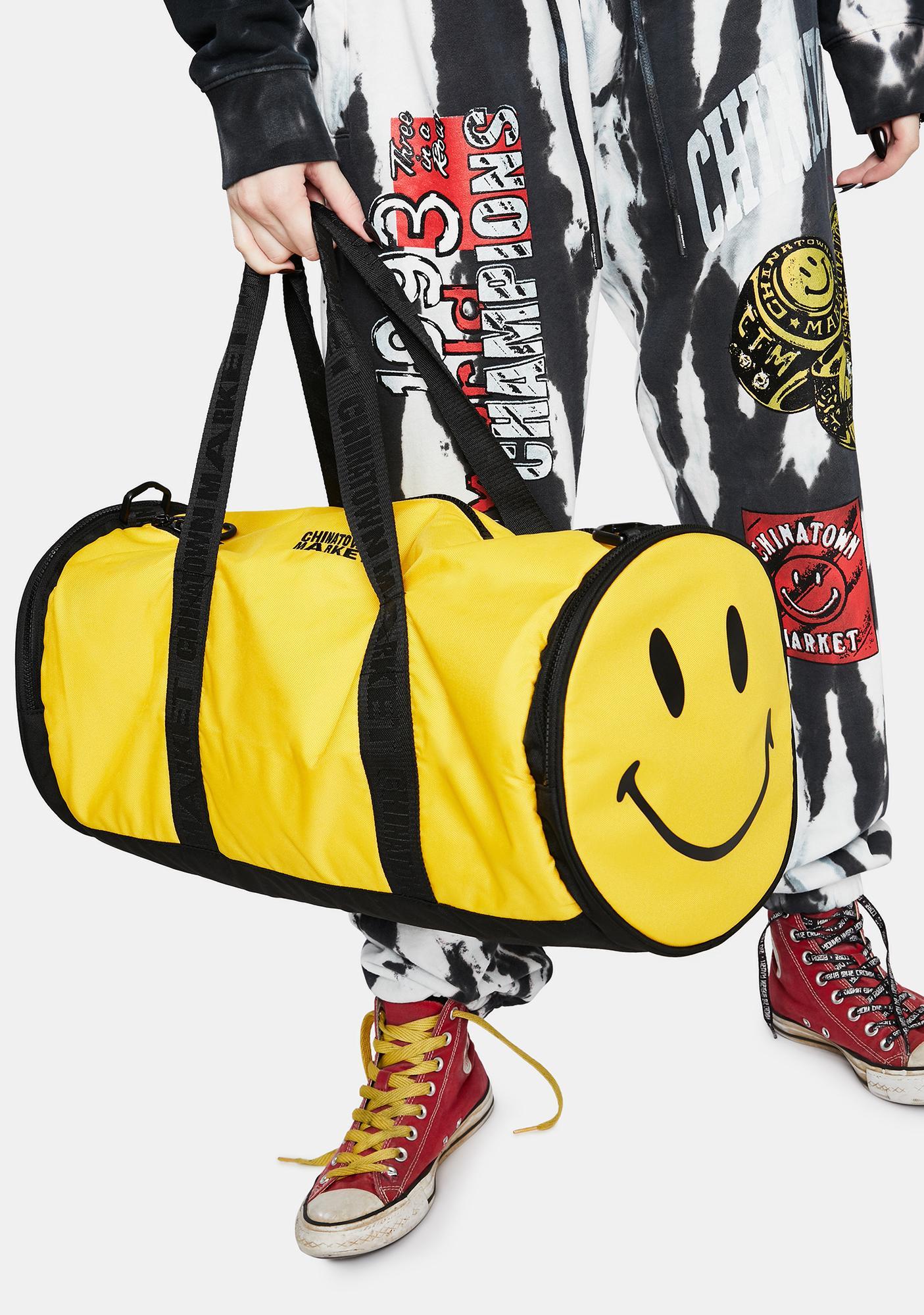 CHINATOWN MARKET Smiley Duffle Bag
