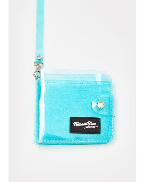 Aqua None Of Ur Beeswax Jelly Wallet