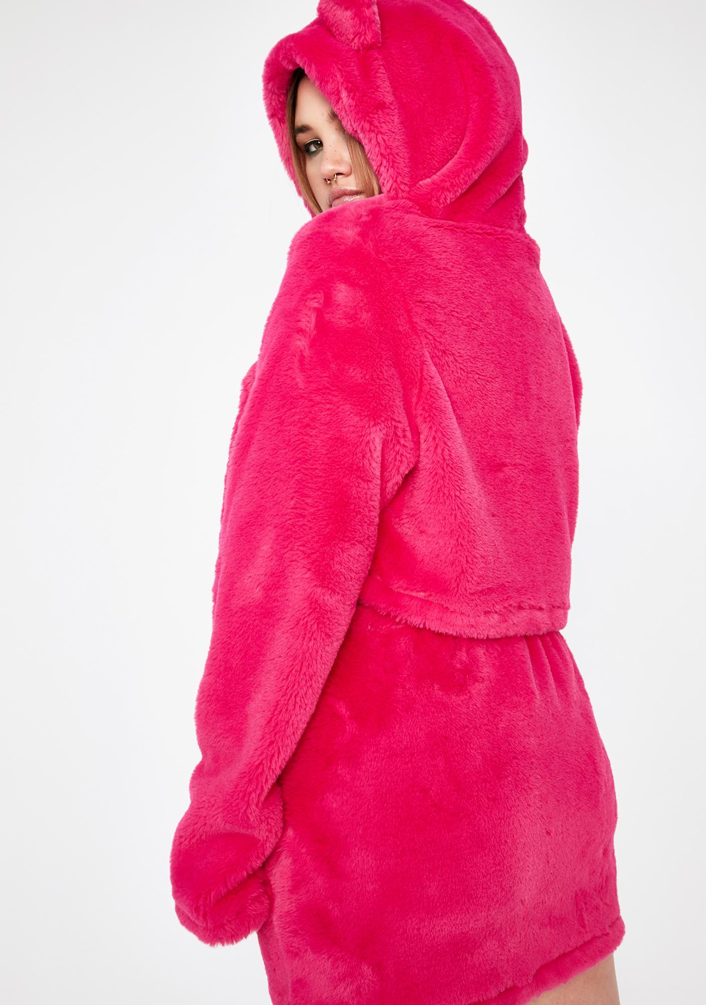 Club Exx Real Furreak Animali Cropped Hoodie