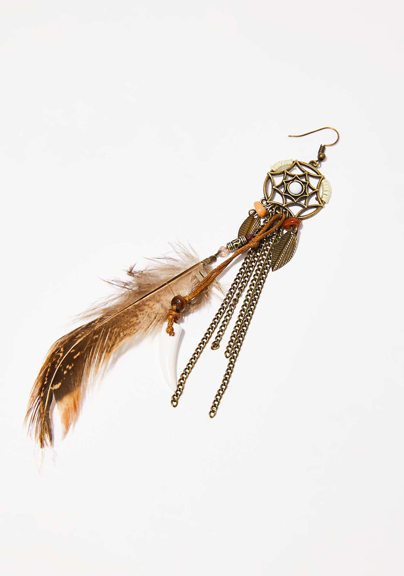 Dream Catchin' Feather Earrings