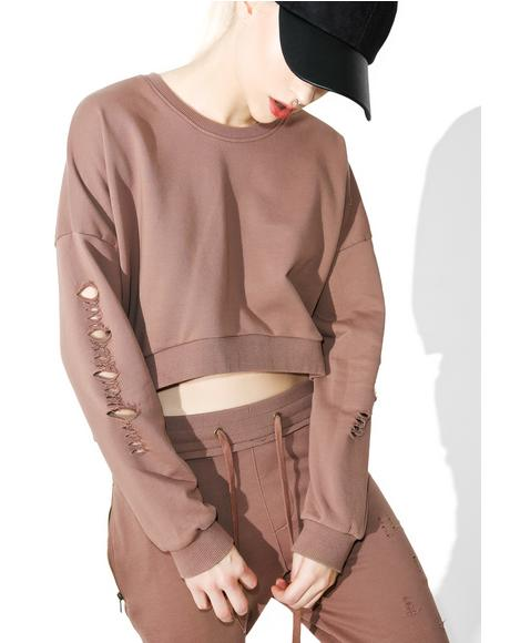 Stretch My Hands Distressed Sweater