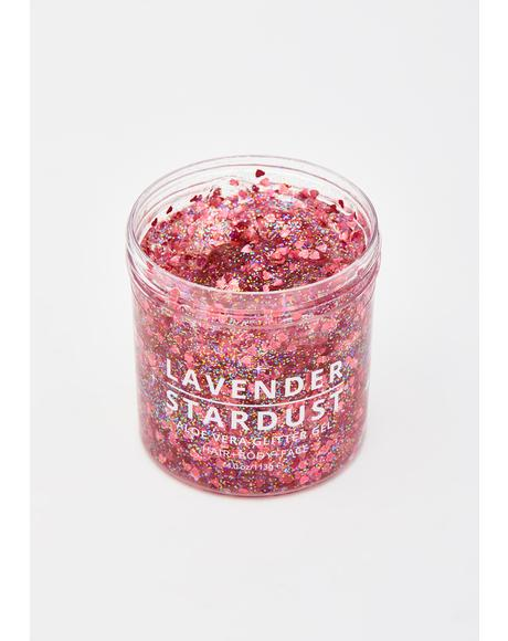 Rose Gold Aloe Vera Glitter Gel
