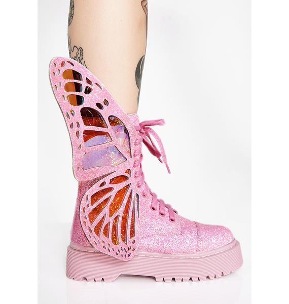 Club Exx Bubblegum Metamorphic Boots