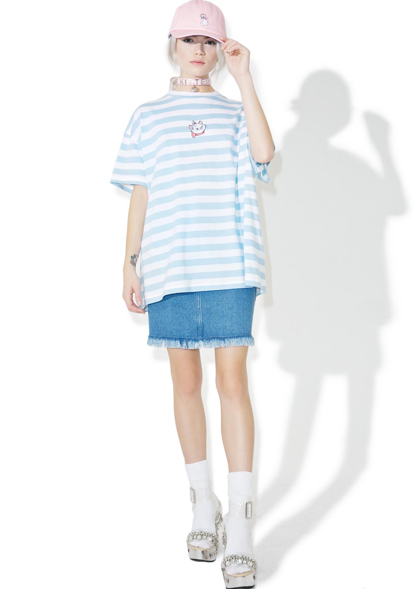Lazy Oaf X Disney Aristocats Marie Stripe Tee
