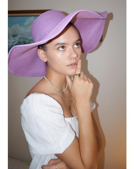 Seeking Sunshine Wide Brim Hat