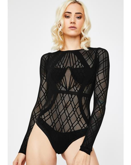 Poisonous Perfection Mesh Bodysuit