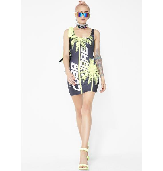 Jaded London Cuba Libre Square Neck Mini Dress