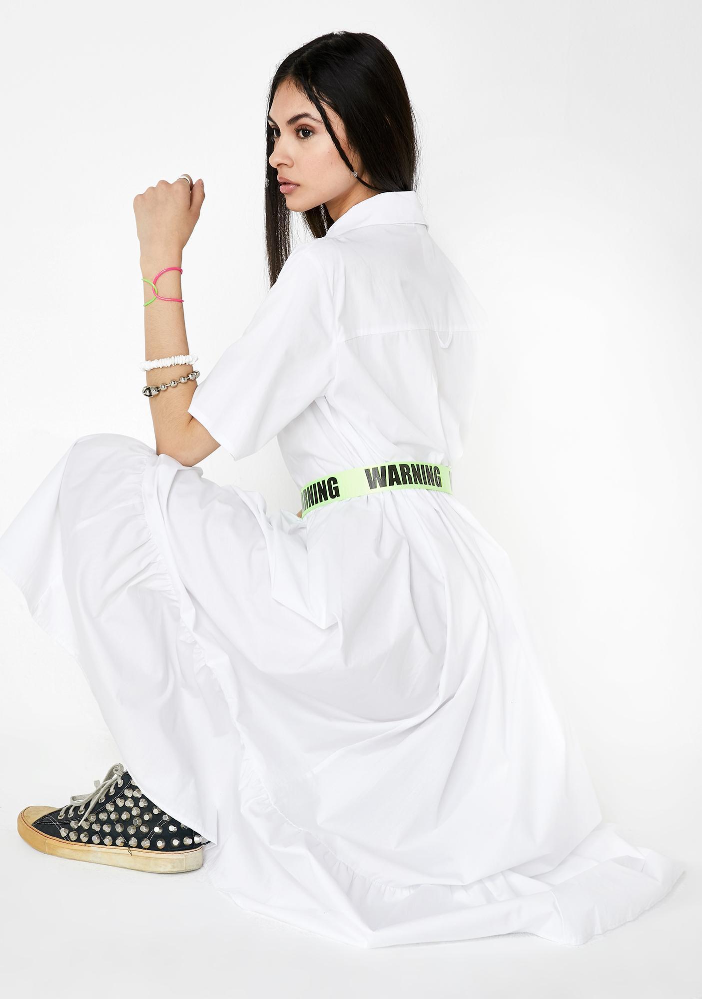 Milk It White Cotton Maxi Shirt Dress