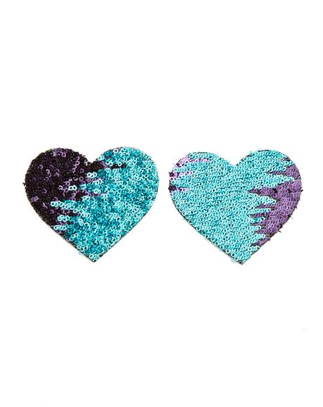 Multi-Color Heart Sequin Pasties