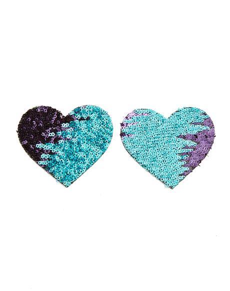 Multi-Color Heart Sequin Pasties