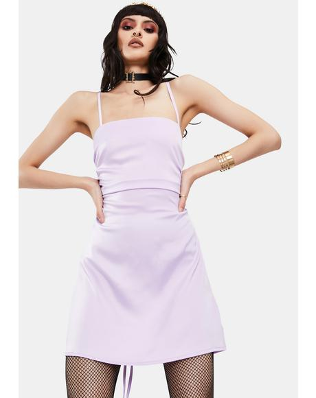 Lavender Cabo Satin Mini Dress