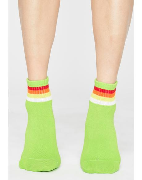Ganja Ova The Rainbow Ankle Socks